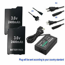 2X PSP-S110 BATTERY + WALL Charger adapter FOR SONY PSP 3000 3001 3003 3004 lite