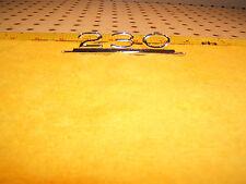 Mercedes W110 230 4d Fintail Raido plate/ Glove box 230 small Genuine 1 Emblem