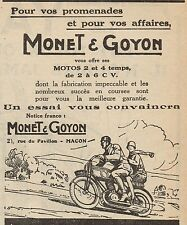 Y8054 MONET & GOYON motos 2 et 4 temps - Pubblicità d'epoca - 1928 Old advert