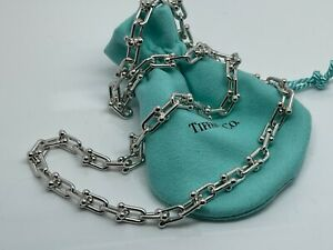 """Tiffany & Co Hardwear Micro Link Chain Sterling Silver 18"""" Necklace $1275"""