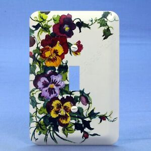 Leviton 1-Gang Flower Vine Wall Plate Switch Metal Cover Switchplate 89001-VIN