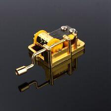 Retro Mechanical Hand Crank Metal Craft Music Box Movement Parts 18 Tunes New