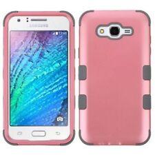 Étuis, housses et coques roses Samsung Galaxy J en silicone, caoutchouc, gel pour téléphone mobile et assistant personnel (PDA)