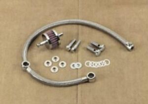 Braided Hose Crankcase Breather Kit Drag Specialties  289118-BC736