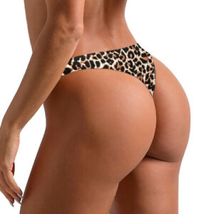Sexy Women Leopard Print Thong Invisible Knickers Panties G-string Brief Gift UK