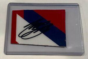 Tony Stewart Mobile 1 HAAS Signed Nascar Race Used 2x3 Sheetmetal Piece #3