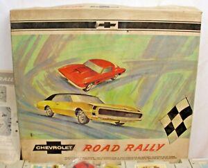 CHEVROLET ROAD RALLY SLOT CAR SET 1960s CAMARO & STING RAY CORVETTE REPUBLIC