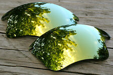 New 24K Yellow Gold Polarized Replacement Sunglass Lenses for Oakley Fast Jacket