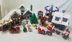 LEGO Winter Village LOT 10245, 10216, 10199, 10235, more Incomplete As Is