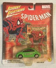 Johnny Lightning Spider-man Green VW Bug Die Cast Car