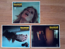 HALLOWEEN 3 rare German lobby cards JAMIE LEE CURTIS 1979 Horror JOHN CARPENTER