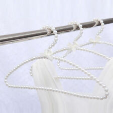 """30cm 11.8"""" Plastic Bow Clothes Hangers Kid's Children's Fashion Pearl Beaded New"""