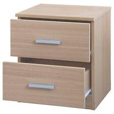 Oakley 2 Drawer Bedside Table in Light Oak Nightstand Bedroom Furniture RRP £49