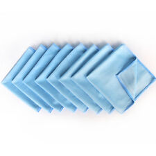 "8 Pack Microfiber Cleaning Glass Cloth Blue 12""x12"" -Lint Free, Streak Free"