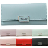 Womens Long Envelope Buckle Wallet Phone Card Holder Case Clutch Purse Handbag