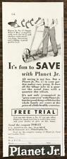 1932 Planet Jr Farm and Garden Tools Print Ad Number 17 Wheel Hoe