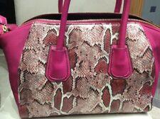 Bnwt Medium  Shoulder Bag East West Design ,faux Leather,  Pink Snake pattern.