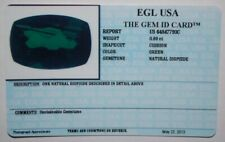 EGL USA TESTED & CERTIFIED CUSHION GREEN 0.89 CT NATURAL DIOPSIDE