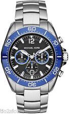 NWT Michael Kors Men's MK8422 Chronograph Windward Black Stainless Steel Watch