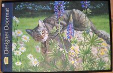 Fiddler's Elbow Designer Doormat WILD WINGS Persis Clayton Weirs Tabby Cat NWT