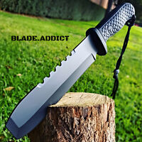"""12"""" Hunting Military Survival Combat Fixed Blade Tactical Knife w/ Sheath Rambo"""