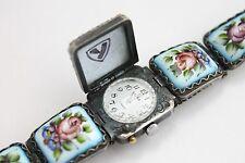 Yanka Russian PORCELAIN Watch Bracelet Chaika Enamel mechanical Filigree Finift