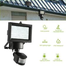Solar Powered PIR Motion Sensor Light Outdoor Garden Security Flood Lamp 100 LED