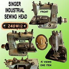 THE SINGER MANEG. CO. INDUSTRIAL SEWING MACHINE HEAD # 240W12 SERIAL # W1787057