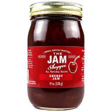The Jam Shoppe All Natural Cherry Jam 19 oz. Jar Handcrafted Real Fruit Recipe