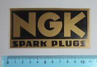 ADESIVO AUFKLEBER STICKER AUTO TUNING VINTAGE NGK SPARK PLUGS ANNI '80 11x5,5 cm