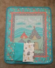 Nursery Crib Quilt/Sheet Set-Campfires & Teepees - Dream Big Little One - 4pcs