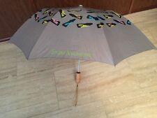"(5710) ENZO ANGIOLINI Folding Parasols Umbrella 36"" Gray"