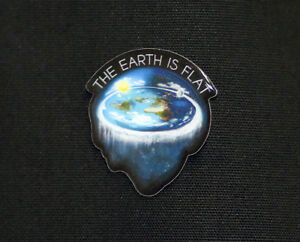 Flat Earth Lapel Pin, Earth is flat, NASA Conspiracy, Hoax, New World Order, Lie