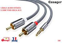 Câble Audio Stéréo 3.5mm vers 2RCA Aux 2M ESSAGER