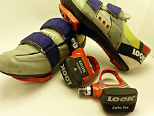 "80's  Race ""LOOK"" Carbon Pedals And Cycling Shoes Women's Size 5"