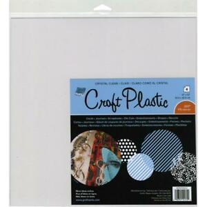 "Grafix Craft 175 Micron Thick Plastic Sheets 12""X12"" - 4 Sheets"