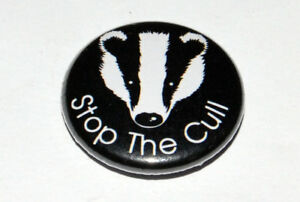 STOP THE CULL 25MM / 1 INCH BUTTON BADGE KEEP THE BAN SAVE THE BADGER