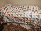 L.+L.+BEAN+Colorful+Patchwork+Quilt+Twin+100%25+Cotton%2C+68%22+x+86%22