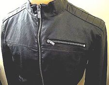 i Jeans by Buffalo Size S Small Black Faux Leather Motorcycle Bomber Jacket Mens