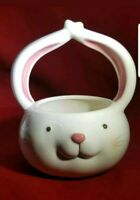 Easter Bunny Rabbit Boy Ceramic Candy Dish Basket or Planter