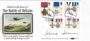 11 SEPT 1990 GALLANTRY BENHAM SIGNED JOHNNIE JOHNSON FIRST DAY COVER BOB SHS
