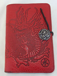 Oberon Design Red Dragon Leather Journal W/Insert