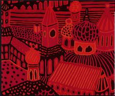 Marimekko Kumiseva fabric panel 1.7 yards full rapport,  HUGE GORGEOUS WALL ART