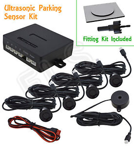 VOLKWAGEN VW BACKUP RADAR PARKING REVERSE SENSORS SYSTEM KIT WITH SOUND ALERT