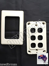ELECTRICAL DATA WALL PLATE 6 GANG CUSTOM INSERTS AUS SELLER
