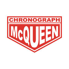 Sticker plastifié CHRONOGRAH Steeve MC QUEEN Mcqueen - Le Mans- 10cm x 6,5cm