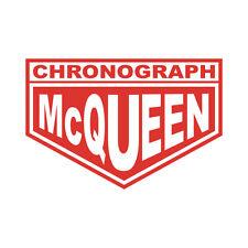 Sticker plastifié CHRONOGRAH Steeve MC QUEEN Mcqueen - Le Mans- 10cm x 6,5cm
