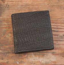 Black Shark Skin Hipster Bifold Jumbo Wallet (12 Card Slots)  - Amish Hand Made
