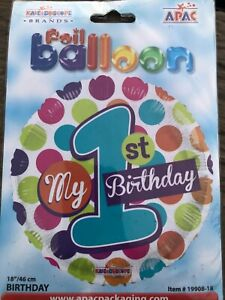 Age 1 18 inch foil balloon priced to clear Brand new in packet. Simply add heliu