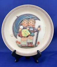 """Goebel M.I. Hummel First Series Anniversary Plate, """"Stormy Weather"""" With Box"""